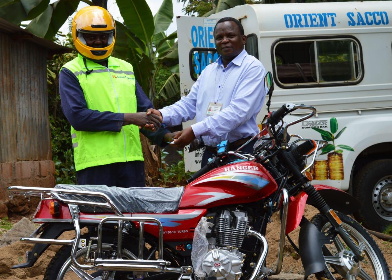Motorbike presentation to a member