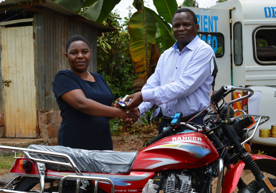 Motorbike presentation to one of our members