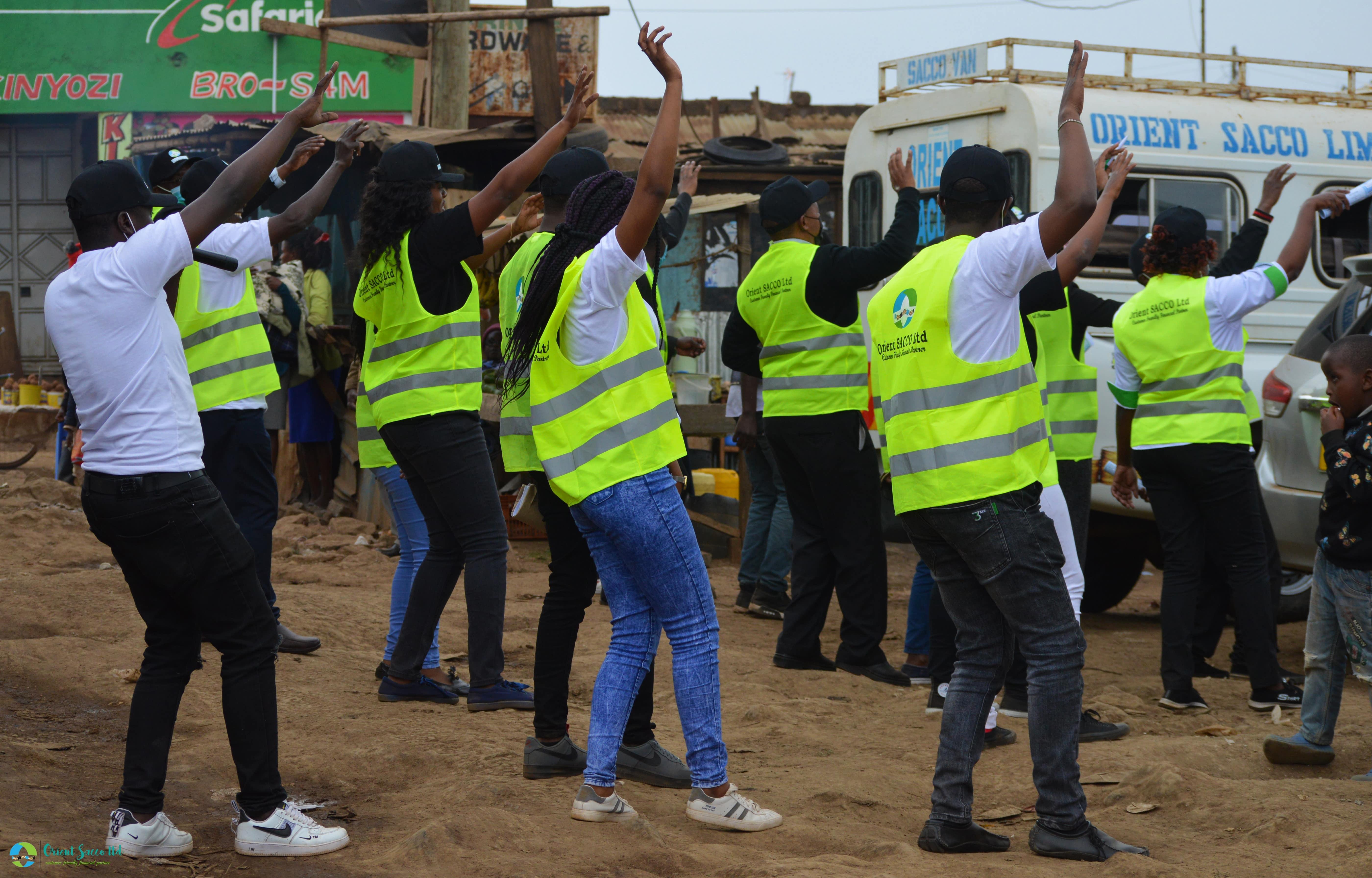Ndarasha Office Launch -Staff doing Jerusalema dance